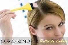 como remover tinta do cabelo