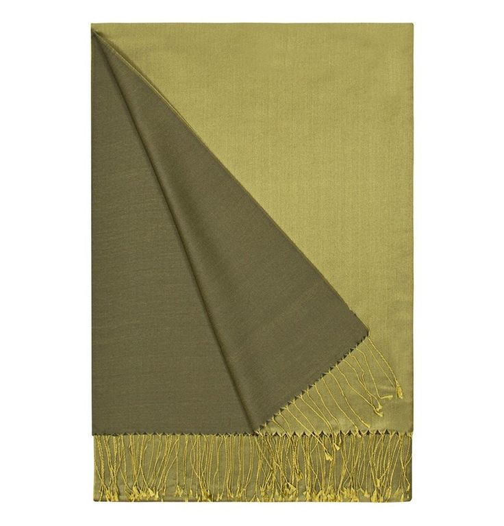 Aker Double-Sided Silk Shawl #057 Olive Green