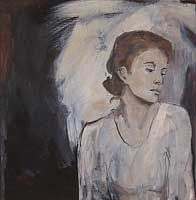 Irina Schuvaloff, To look and not to see 2008, oil on canvas, 64 x 61