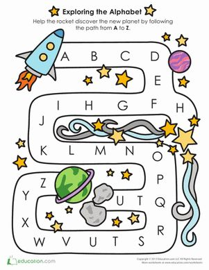 Printables Learning The Alphabet Worksheets 1000 ideas about alphabet worksheets on pinterest russian preschool mazes the learning follow a to z path