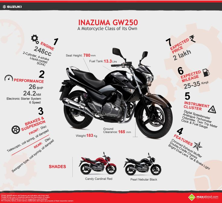 Suzuki Inazuma GW250: Specifications and Price