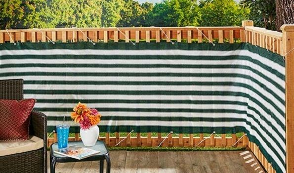 Privacy Screen For Decks Fences Balcony Outdoor Railing Waterproof Netting 15 ft #Unbranded