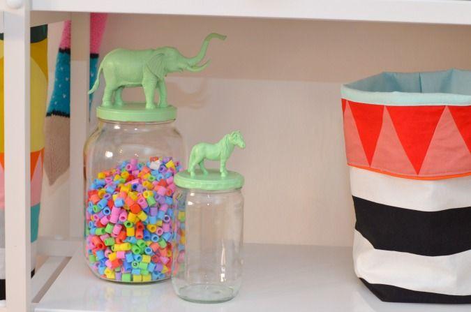 LeizyB: Opbevaringsglas med dyr #kid #storage