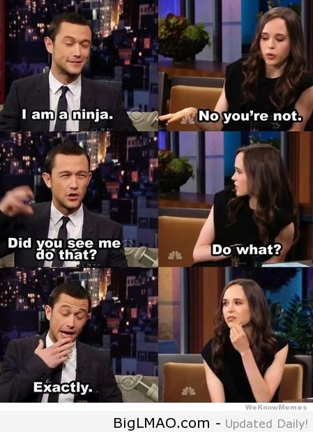 Joseph Gordon Levitt Is A Ninja