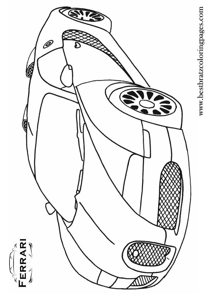 Free Printable Ferrari Coloring