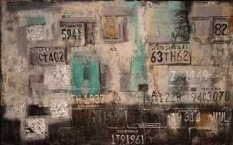 Kunstsamlingen | Artist: Chanet Markmann | Title: Nummerplader | Height: 100cm,  Width: 160cm | Find it at kunstsamlingen.com  #kunstsamlingen #kunst #artcollection #art #painting #maleri #galleri #gallery #onlinegallery #onlinegalleri #kunstner #artist #danishartists #chanetmarkmann