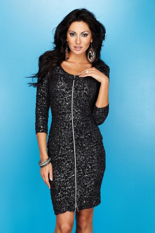 This zip-front dress (#23216) by Frank Lyman Design is a definite scene stealer! #FrankLyman