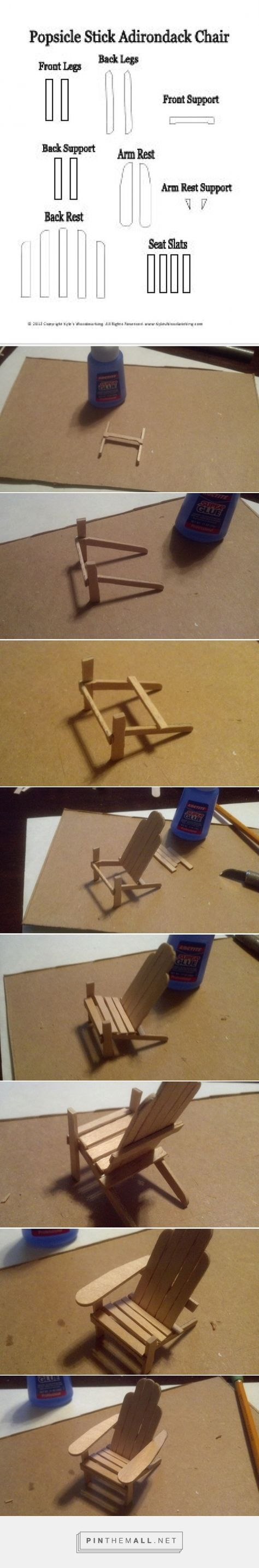 How To Make A Popsicle Stick Mini Adirondack Chair... - a grouped images picture - Pin Them All
