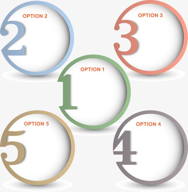Circular No Numbers 1 5 Round Digital Selection Box Png And Psd Infographic Powerpoint Powerpoint Background Design Infographic Design Template