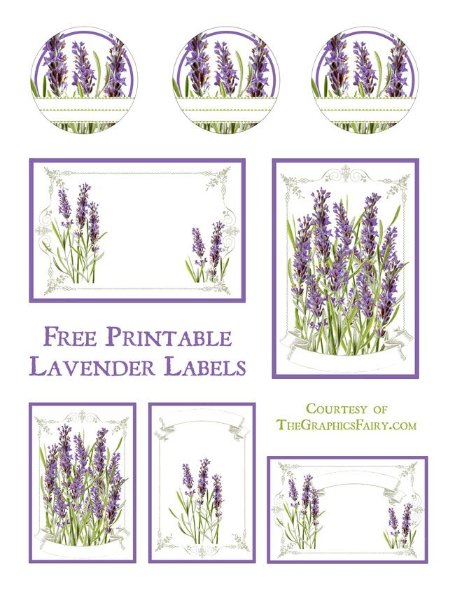 Printable Lavender Labels! Great for Homemade Bath and Body products! By Emily for The Graphics Fairy