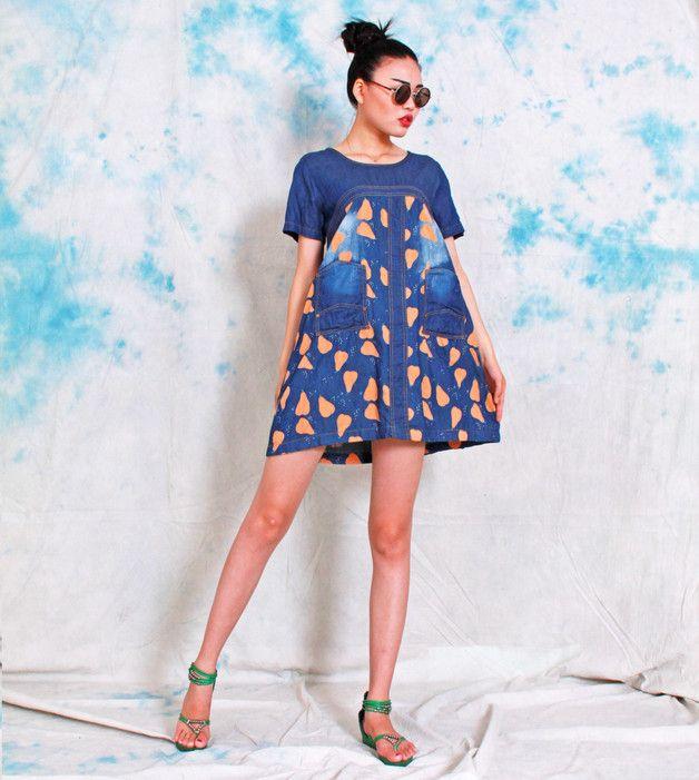 Maxikleider - Kurzarm Baumwoll-Leinen-Maxi-Kleid - ein Designerstück von chinese-dress bei DaWanda