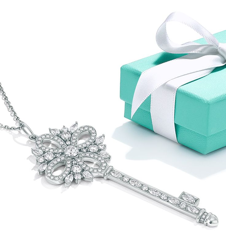 A surprise sure to leave her starry-eyed—a Tiffany Victoria® key pendant inspired by the night sky.