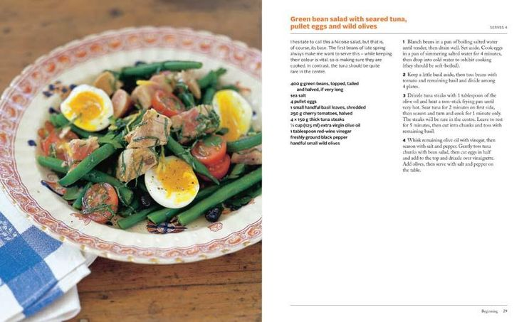 Green Bean Salad with Seared Tuna, Pullet Eggs and Wild Olives  found in  Maggie Beer: Lantern Cookery Classics