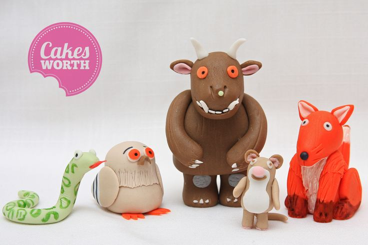 The Gruffalo characters made out of fondant.