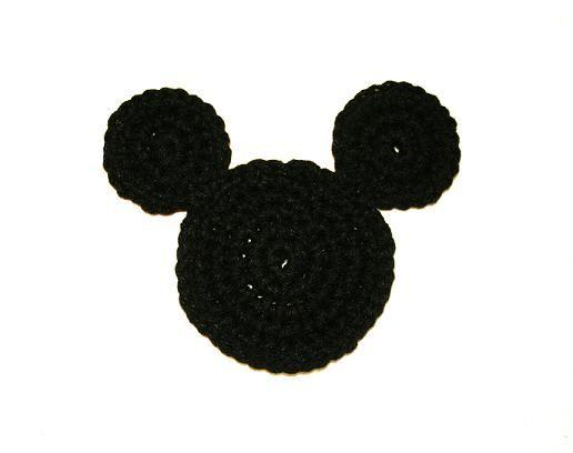 Tampa Bay Crochet: Mickey Mouse Ears Coaster Free Crochet Pattern