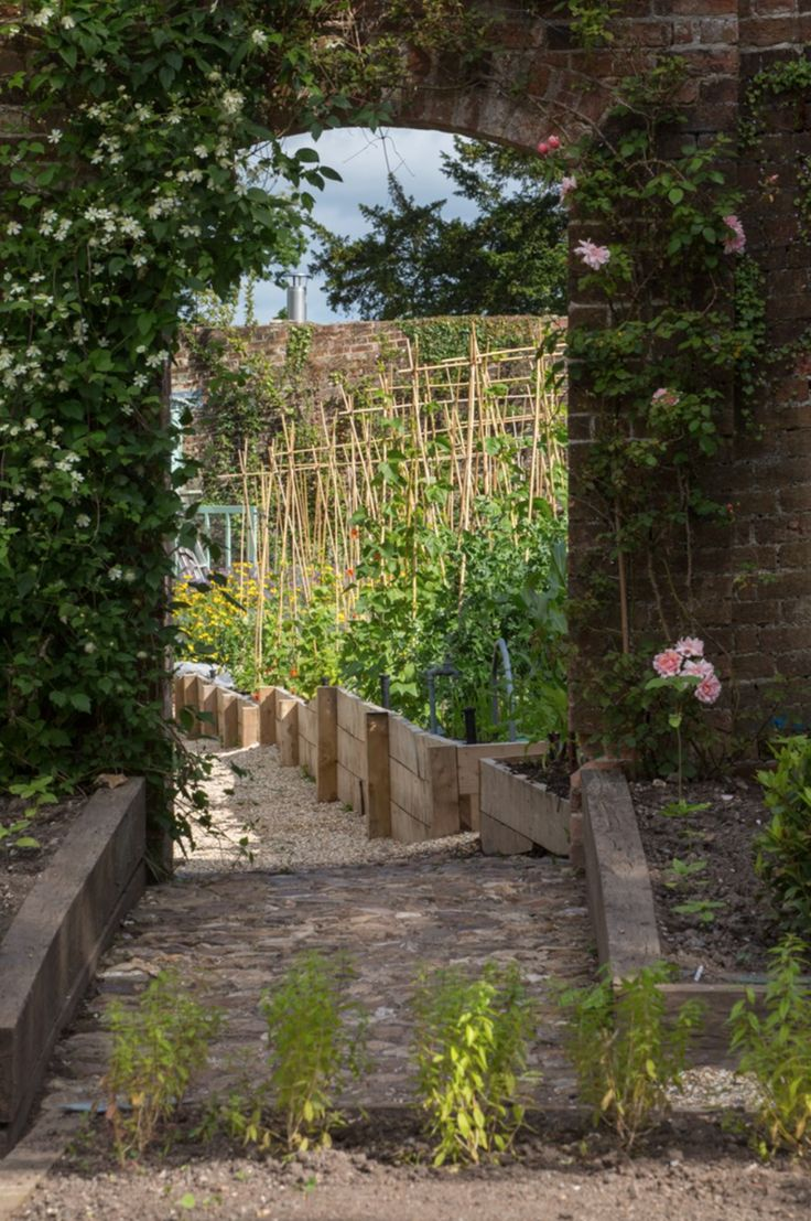 The kitchen garden at The Pig at Coombe