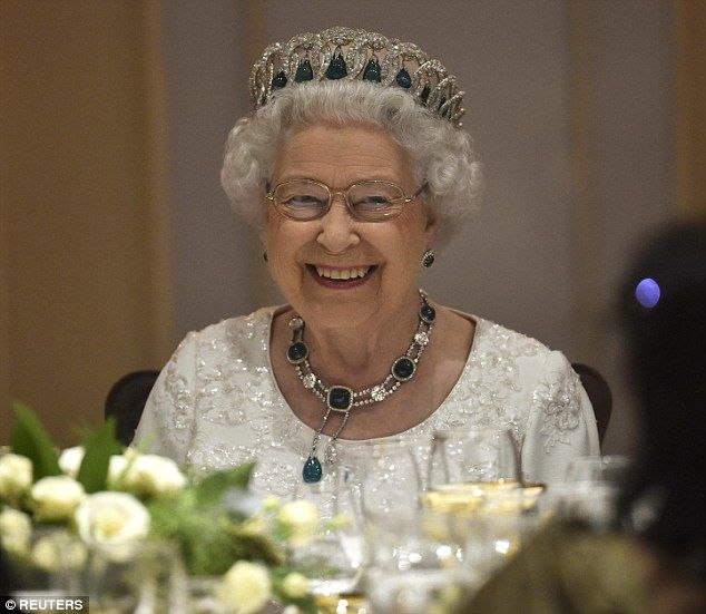 Few pieces of jewellery incite such excitement as a royal tiara and Her Majesty looked resplendent in a dazzling diamond hoop tiara complete with emeralds