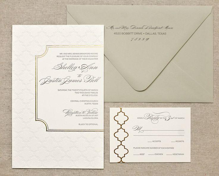 gold foil invitation