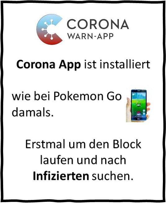 Corona App Lustig
