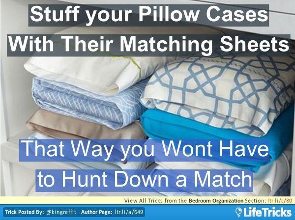 Bedroom Organization - Keep your Bedding Organized