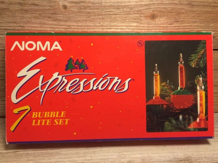 Noma Expressions Vintage Bubble Christmas Light 7 Bulb Strand -FOR PARTS-