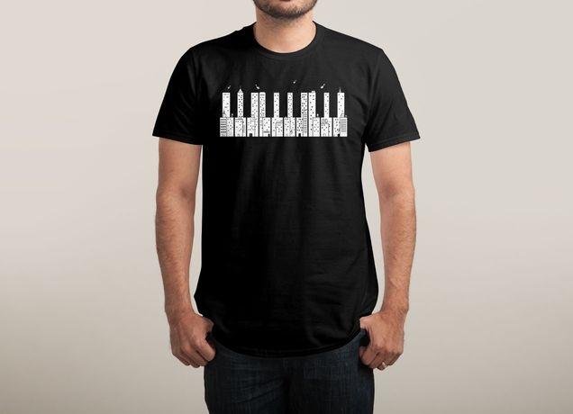 """Piano Skyline"" by boostr29 | Threadless"