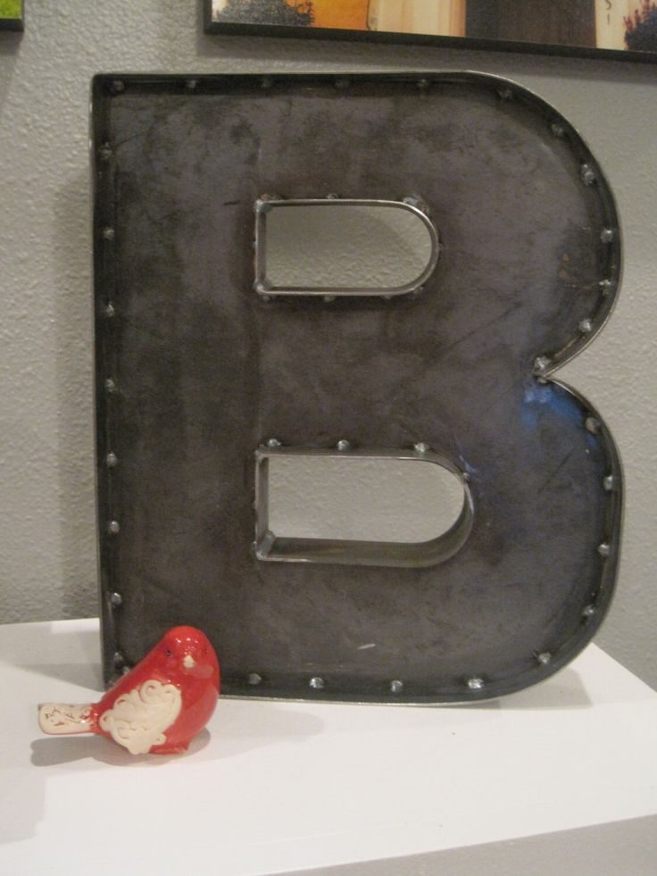 Metal Letter B Wall Decor : Best ideas about metal letters for wall on