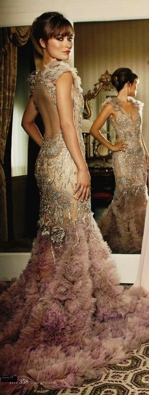 Olivia Wilde in Marchesa gown