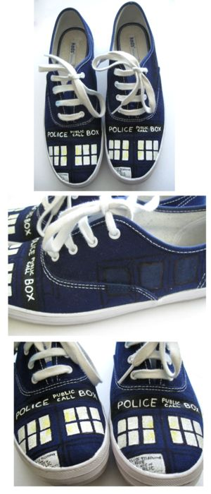 Super cute idea!!! :-doctor-who-shoes for my sons birthday =) !