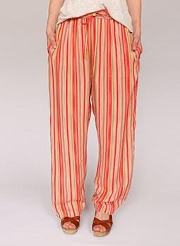 Gestreepte vintage broek @ www.secondhandnew.nl