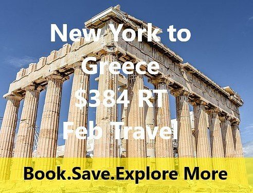 NYC to Athens Greece. EWR- ATH. Emirates Air Flight  Follow and turn on notifications to never miss a deal. ----- Example Travel Dates: Feb 6-18 ----- Fare found onfly4free.comand esky.com ----- FINE PRINT: Esky is a third party site such as expedia or priceline. If plans change and you need to change the date expect to play extra fees.  Fares fluctuate constantly. Low fare was found at time of posting. If price has changed it is likely that those dates have sold out at that price.  Happy…