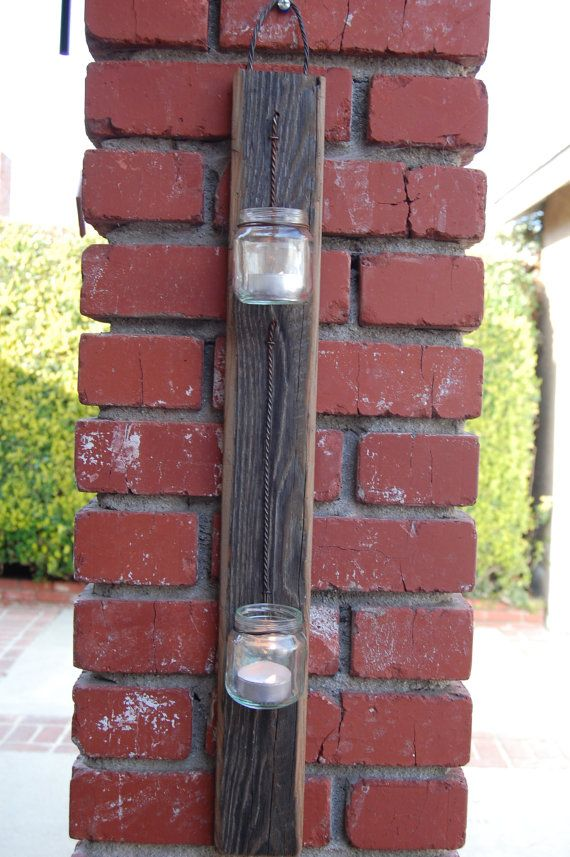 Rustic Wood Wall Sconce by Corbznson on Etsy