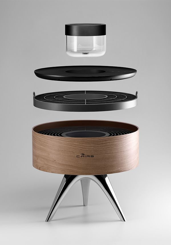 ROOT combination humidifier/de-humidifier automatically detects levels and adjusts output depending on the fine-tuned user preferences. It pays homage to the traditional Korean braziers used in ancient times to control the air condition. Designerd by Seungwoo Kim