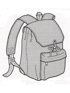 leichter Rucksack  Rucksack für kleine Tagestouren, Sport und Freizeit. Mit gepolsterten Gurten und zusätzlicher Fronttasche. In der Größe... €6,50