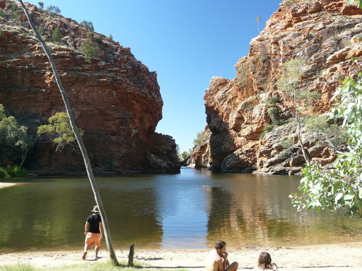 Ellery Creek Big Hole, NT.  A great place to swim after long day in the heat.