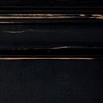Distressed black baseboards