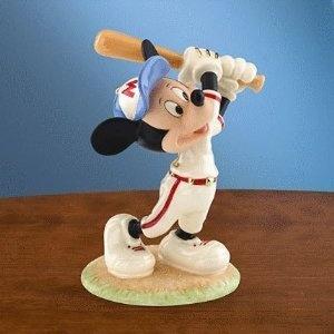 Lenox Disney Mickey Mouse Baseball Figurine