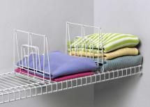 Organize your closet with shelf dividers: Wire Shelf Dividers