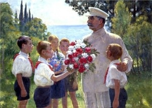 """Roses for Stalin, excellent example of """"socialist realism"""""""
