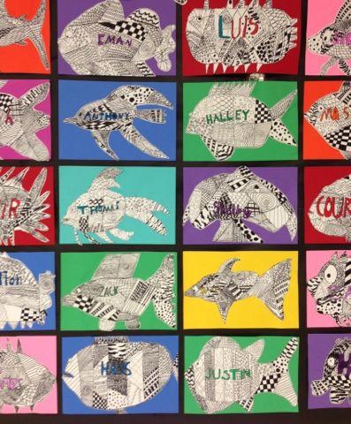 Apex Elementary Art: here fishy, fishy
