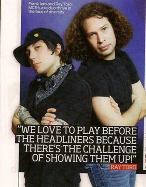 Frank Iero and Ray Toro ~ My Chemical Romance