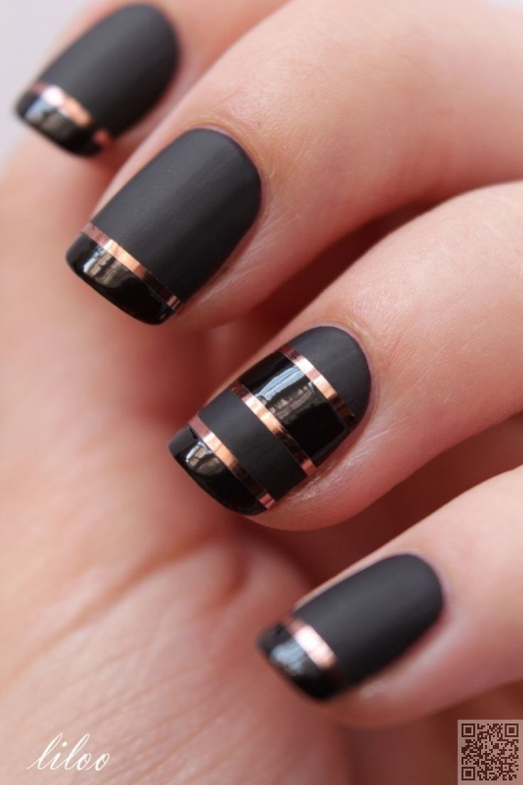 Best 20+ Striped nail art ideas on Pinterest—no signup required | Striped  nail designs, Simple nails and White nail art - Best 20+ Striped Nail Art Ideas On Pinterest—no Signup Required