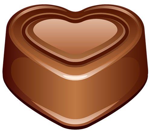 Chocolate heart emoticon