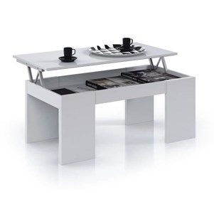 KENDRA Table Basse blanche plateau relevable - Achat / Vente table basse KENDRA Table Basse blanche - Cdiscount