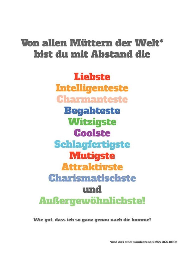 Muttertag Frech · Inspirierende PosterSprüche Zum MuttertagVatertagMamas  Geburtstag65 GeburtstagMama GeburtstagsgeschenkeDanke ...