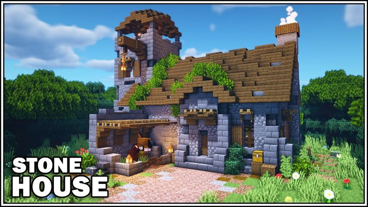Minecraft 1 15 Medieval Stone House Tutorial [How to
