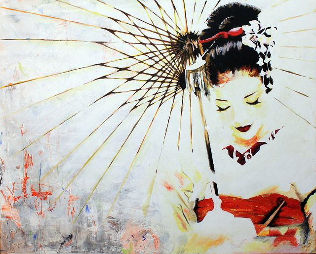 geisha | Flickr - Photo Sharing! kind of but the sad truth of reality