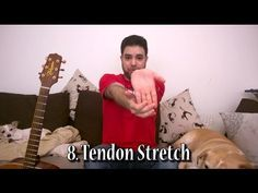 8 Stretching Exercises For Guitar Players & Other Tips - Tutorial Lesson.Published on Jan 19, 2016 Hand and arm safety is the number one priority for guitar players. Carpal Tunnel Syndrome and tendonitis are real threats. All it takes to prevent those unpleasant conditions is five minutes of exercise before playing. Keep you hands safe and warmed up right.