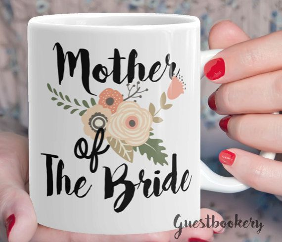 Mother of the Bride Mug  Mother of The Bride Gift  by Guestbookery