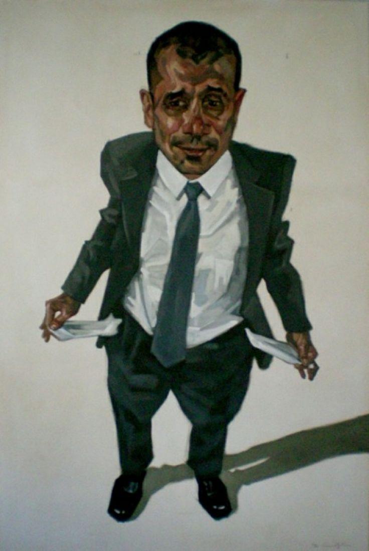 """""""Exiguo"""", 2013, oil on canvas, cm 195x130"""